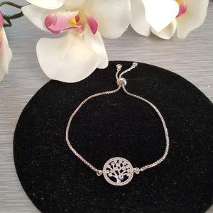 Jewelry - New Tree of life Rhinestone evil eye Bracelet ST